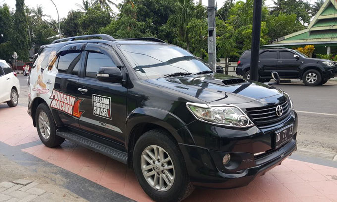 Mantan Pentolan Akar Rumput NA-TBL Branding Kendaraannya dengan Gambar IYL-Cakka