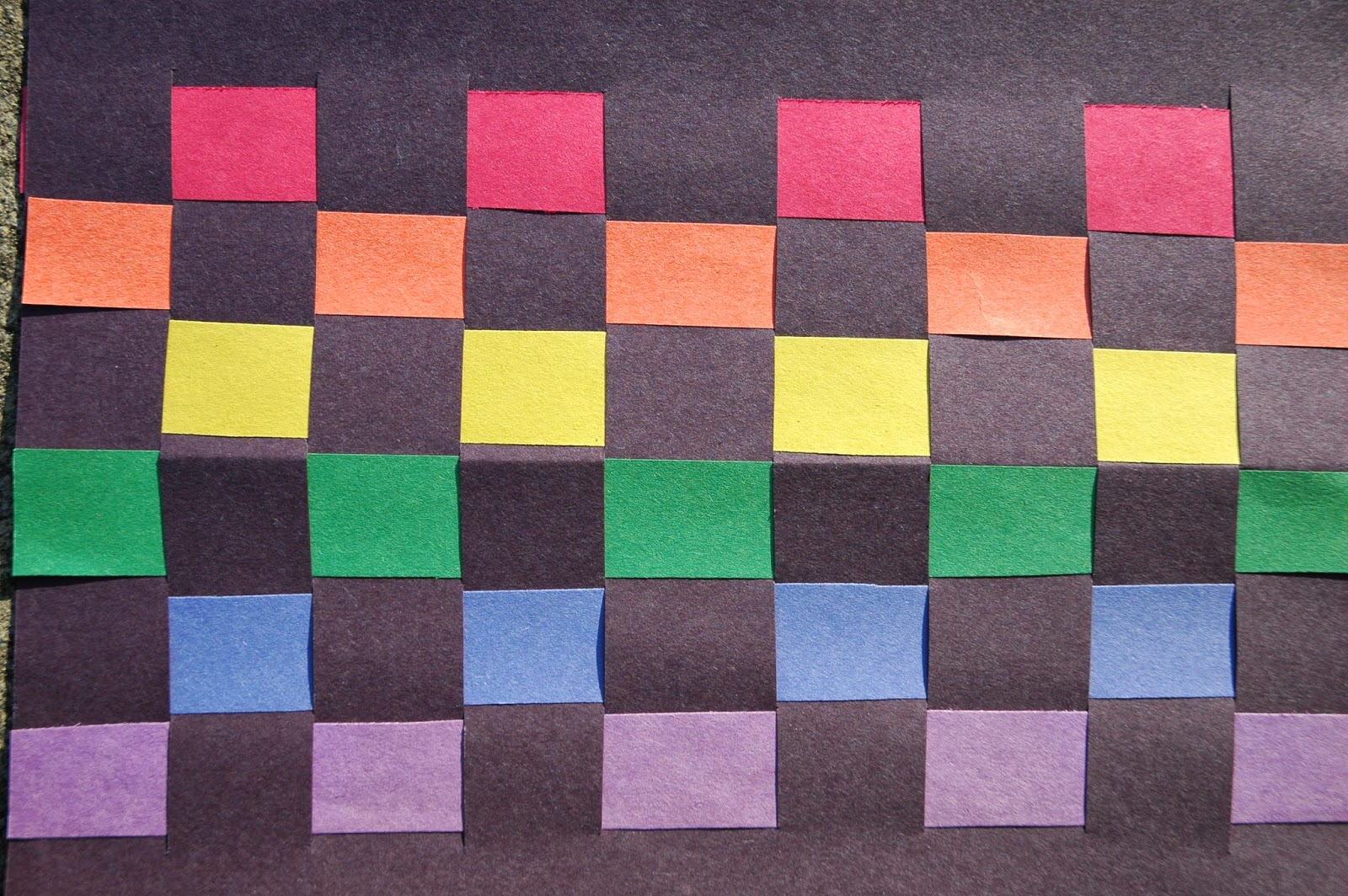 Rainbow Paper Weaving What Can We Do With Paper And Glue