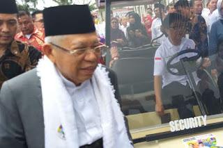 Cawapres nomor urut satu, Ma'ruf Amin ketika berada di Palembang, Sumatera Selatan, Kamis (10/1/2019). - Foto: KOMPAS.com