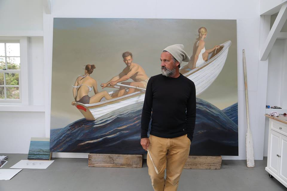 bo-bartlett-painter-artist-painting-the promised land-boat-sea