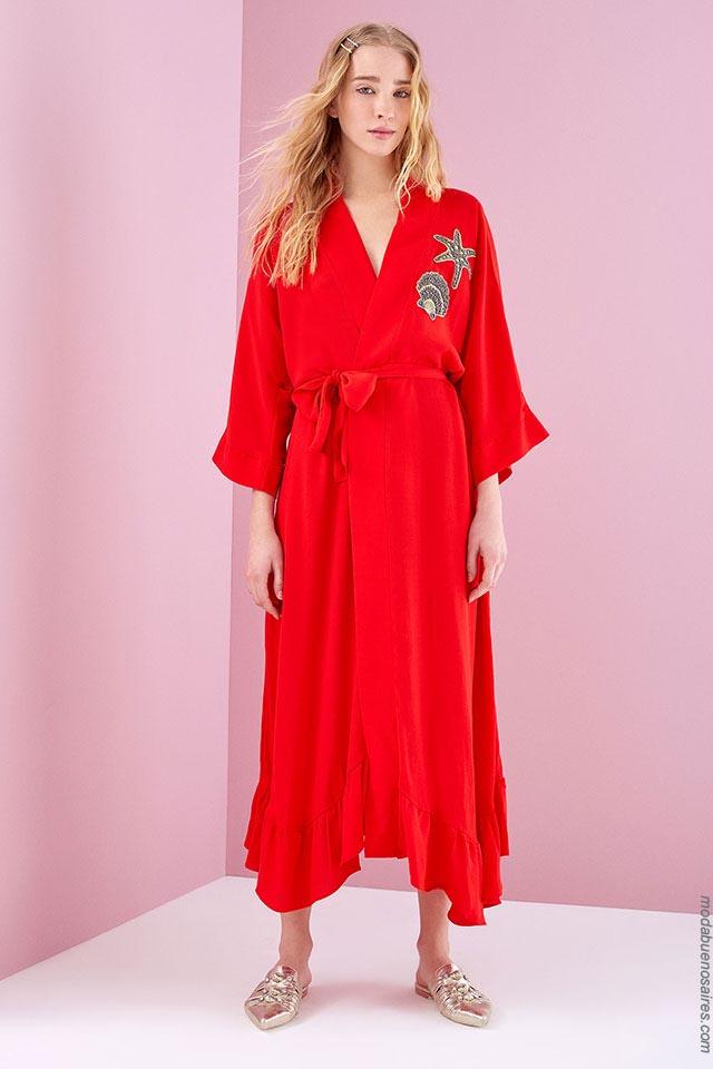 Vestidos de moda casuales primavera verano 2019.