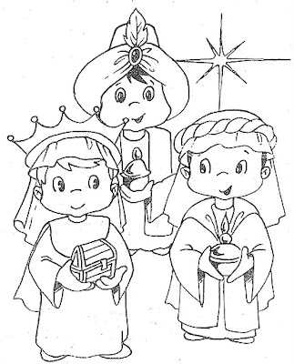 the three kings coloring pages - photo#14