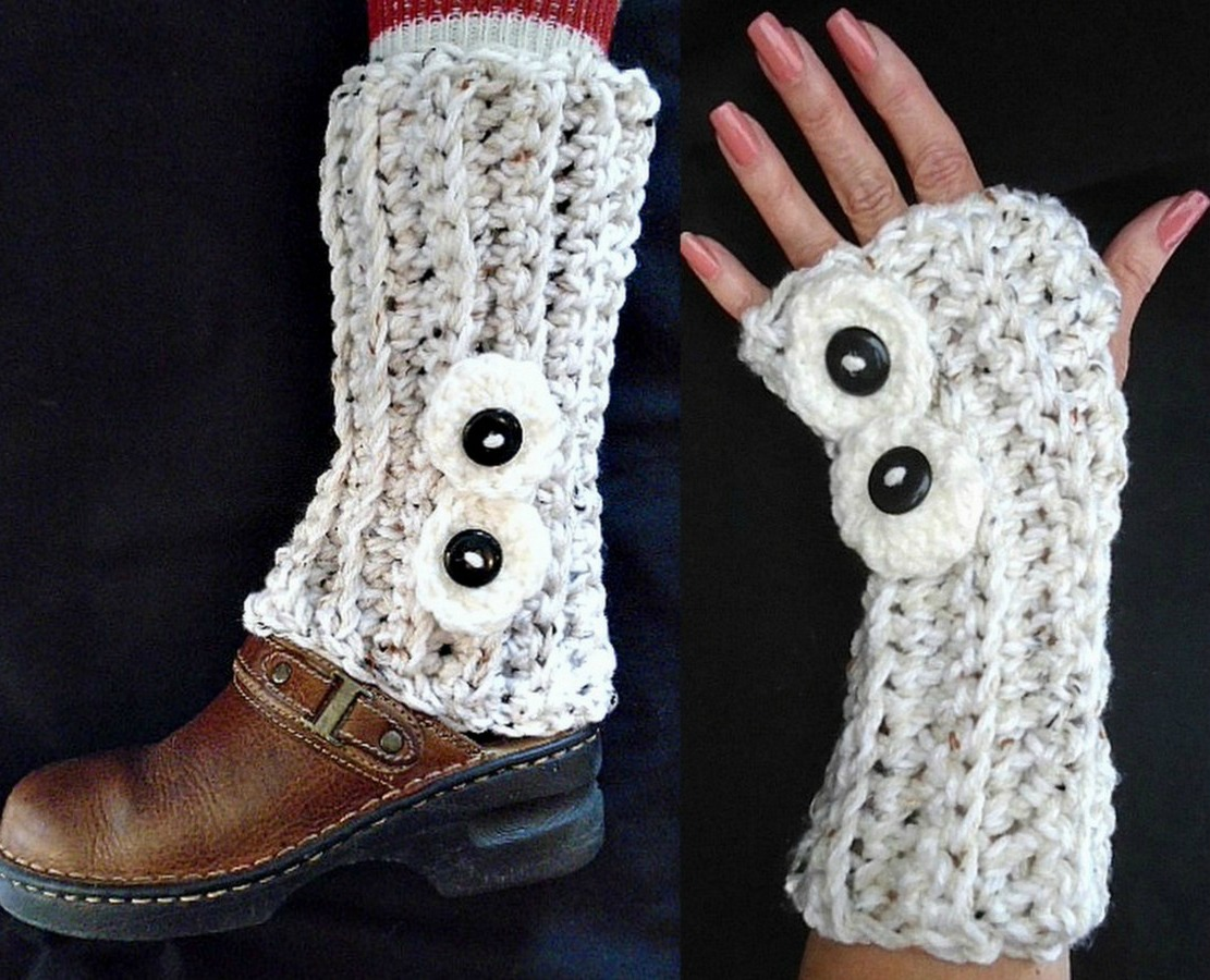 My Hobby Is Crochet: Karmel Fingerless Gloves & Legwarmers | Free ...