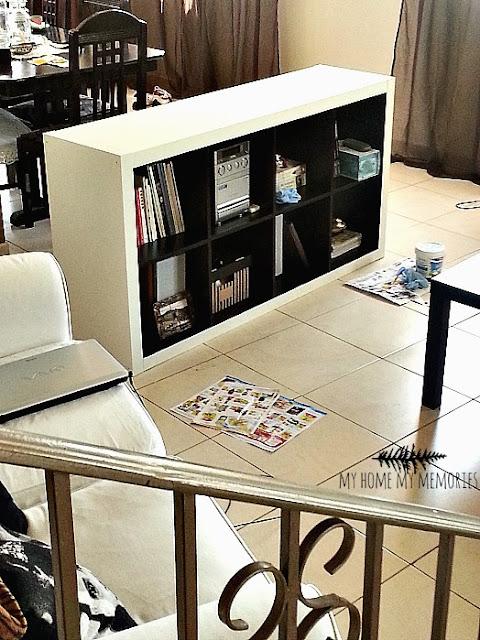 chalk-paint-on-Ikea-bookcase