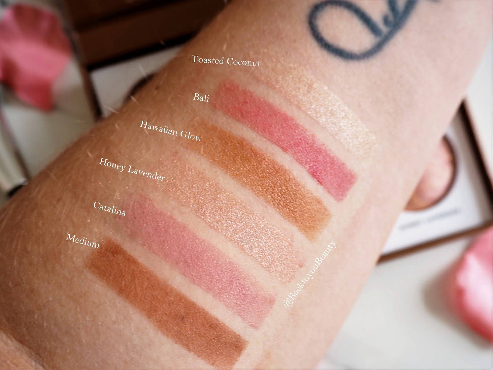 Cheek-to-Chic Blush Highlighter Bronzer palette swatches