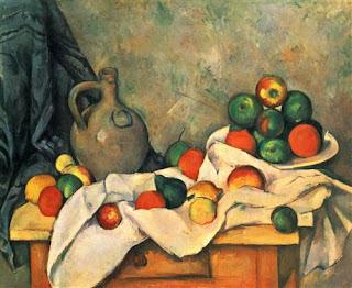 """Curtain, Jug and Fruit"", Paul Cezanne"