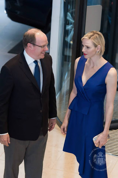 "Prince Albert of Monaco and Princess Charlene of Monaca attended the meeting of the ""33rd Monte-Carlo International Swimming Meeting"" organized by the Monegasque Swimming Federation"