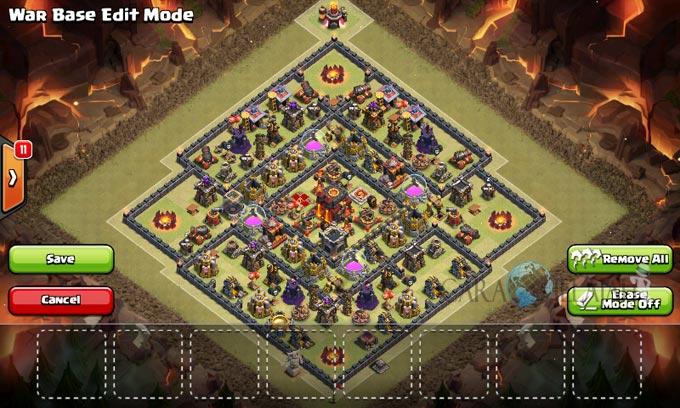 Desain Base Pertahanan Terbaik Untuk Base War TH 10 Update Terbaru 23