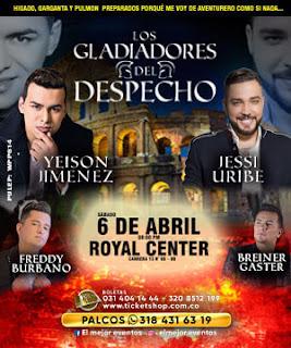 Concierto Los Gladiadores del Despecho Bogotá 2019
