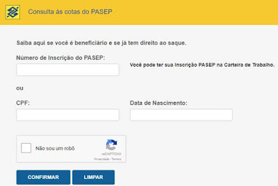 Consultar Cotas do PASEP