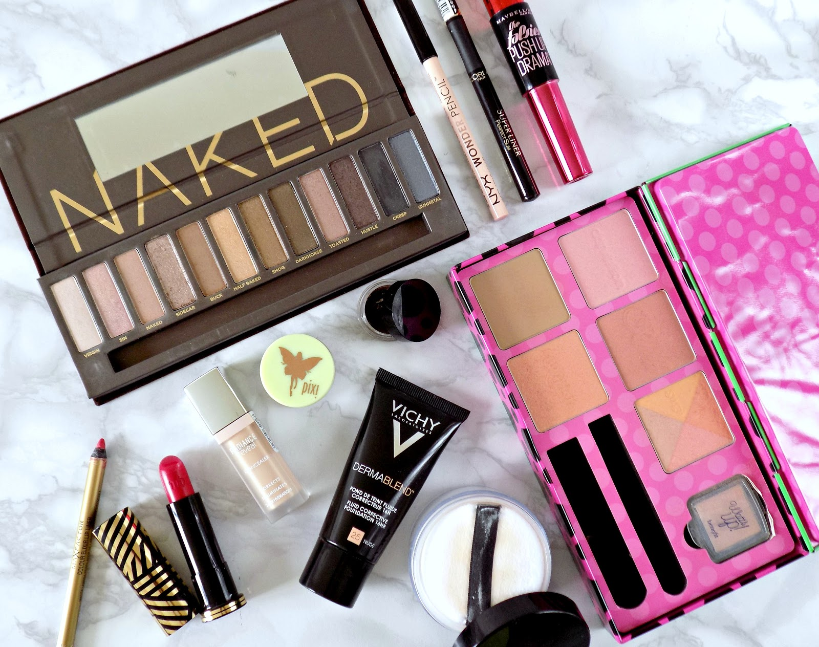 Makeup look using Urban Decay Naked palette