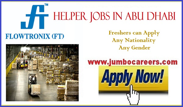 Latest Abu Dhabi helpers jobs for Indians, Gulf jobs vacancies, Helper jobs for freshers -