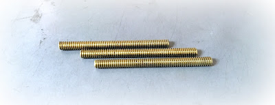 custom cut 1/4-20 threaded rod studs in brass material - engineered source is a supplier and distributor of custom threaded studs and rods in stainless, steel, and brass materials - covering Orange County, Los Angeles, Inland Empire, San Diego, California, USA, and Mexico