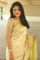 Harshitha looks stunning in Cream Sareei at silk india expo launch at imperial gardens Hyderabad ~  Exclusive Celebrities Galleries 012.JPG