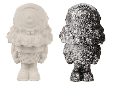 "Mister Melty 3"" Concrete Figures by Buff Monster – Unpainted and Black & Silver Editions"