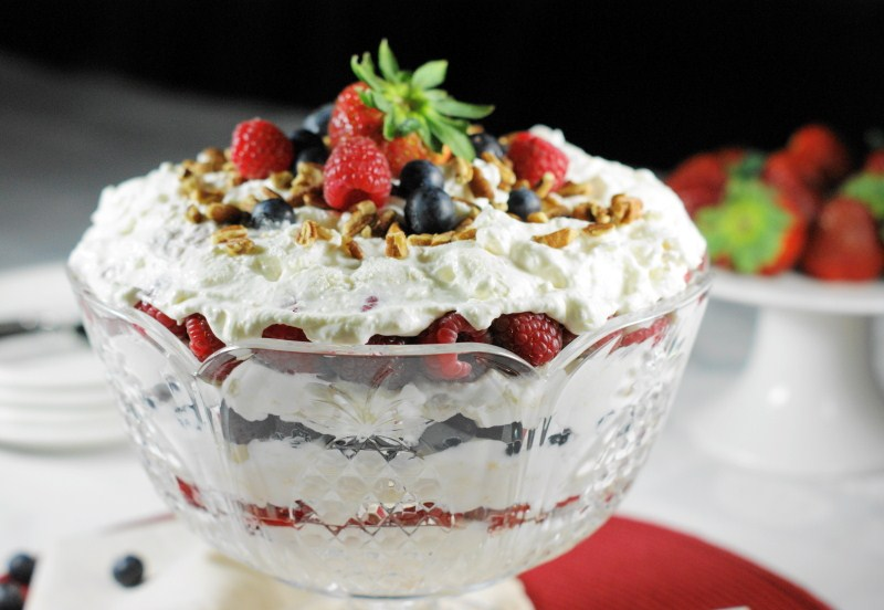 The Kitchen is My Playground: Triple Berry Punch Bowl Cake ...