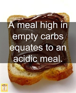 empty carbs is an acidic meal