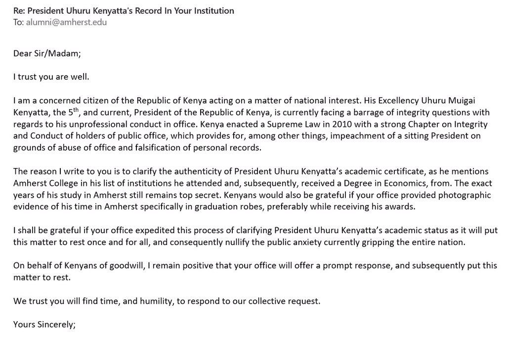 Uhuru Kenyatta Graduation