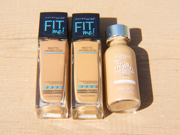 FAVORITE FOUNDATIONS MABYLINNE FIT ME & L'OREAL TRUE MATCH