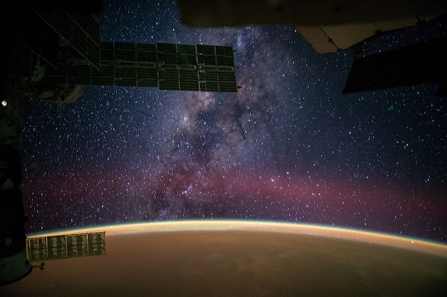 milky way from iss