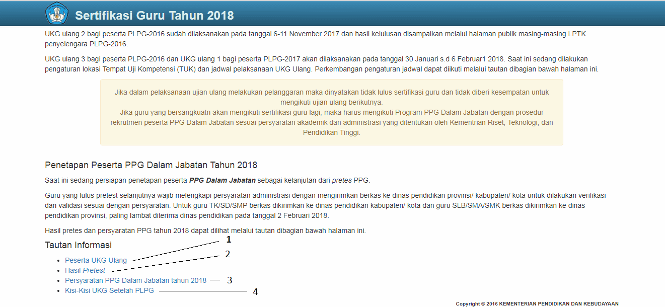 Pelaksanaan UKG Ulang 2018 - Info [K-Moe]