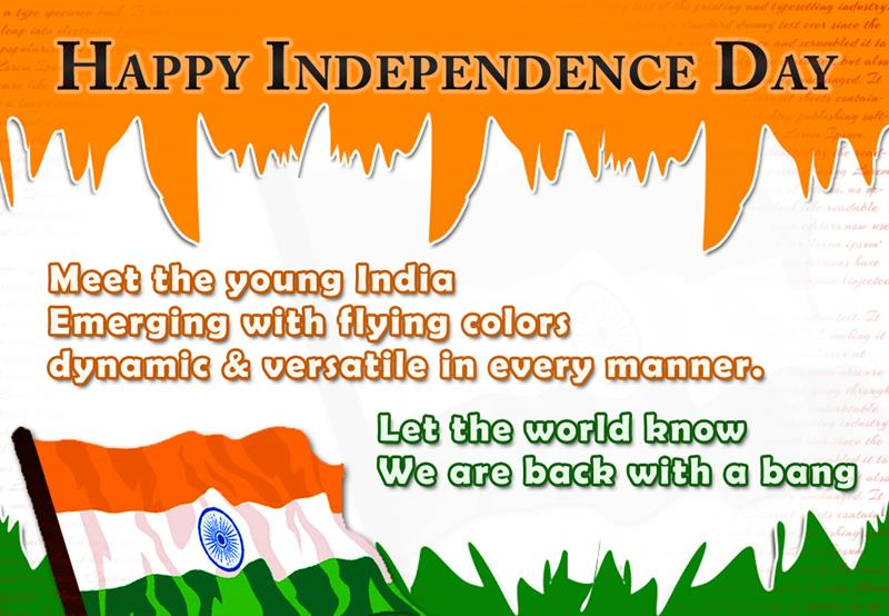 welcome speech on independence day Today we celebrate the 65th independence day of our great nation on this  joyous occasion i convey my greetings and good wishes to all the.