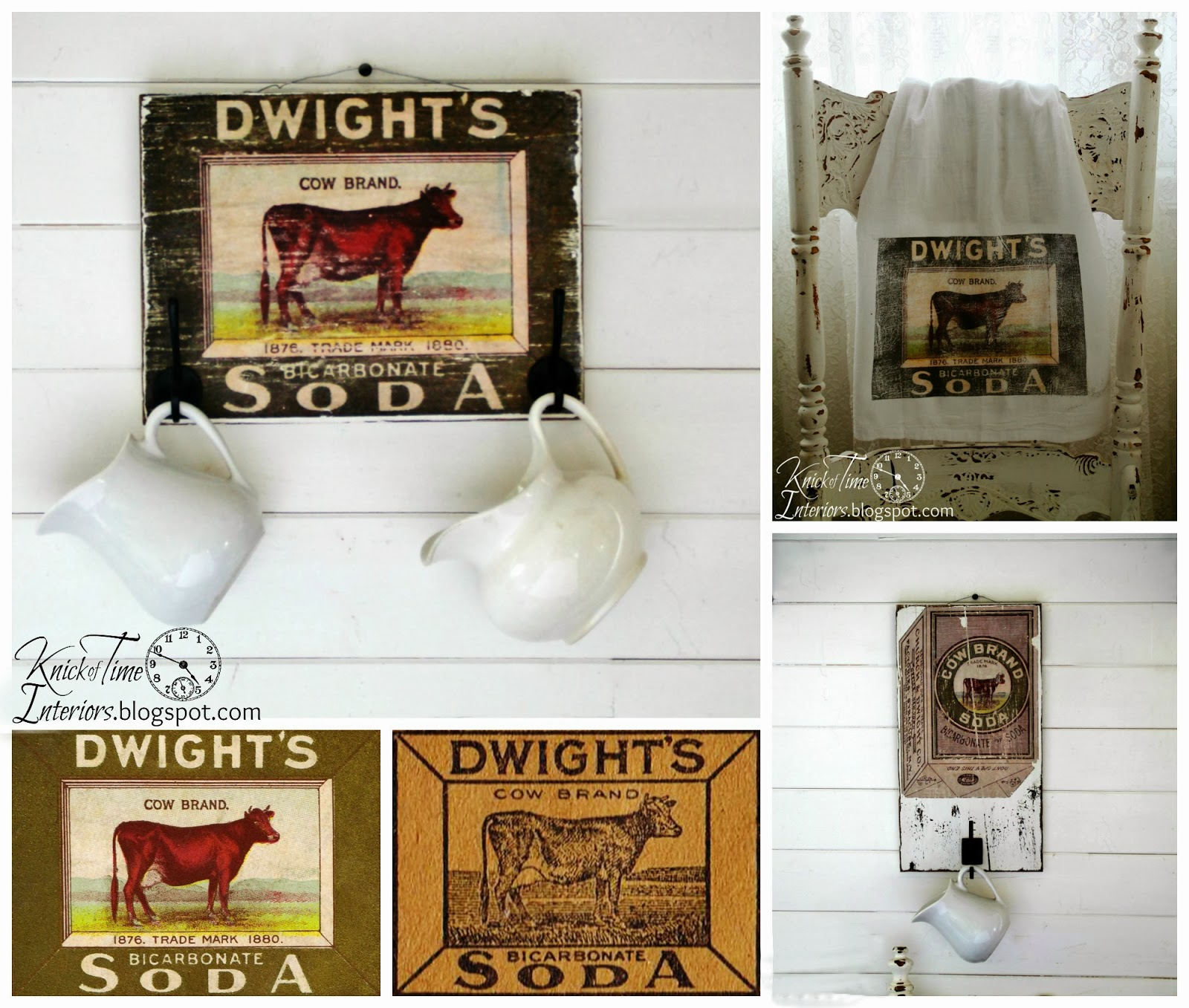 Free Printables - Antique Cow Image Advertisement Transfer