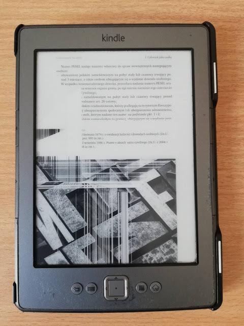 Uszkodzony ekran w Kindle Classic