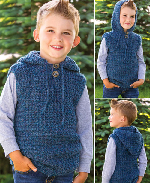 Children's Hooded Vest - Free Pattern