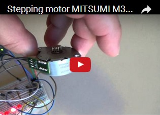Stepping motor MITSUMI M35SP-9 and Arduino UNO R3