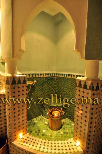 riad dar zellige hammam riad en zellige du fes. Black Bedroom Furniture Sets. Home Design Ideas
