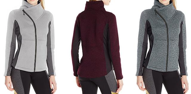 Betsey Johnson Sweater Fleece Asymmetrical Zip Jacket $39 (reg $72)