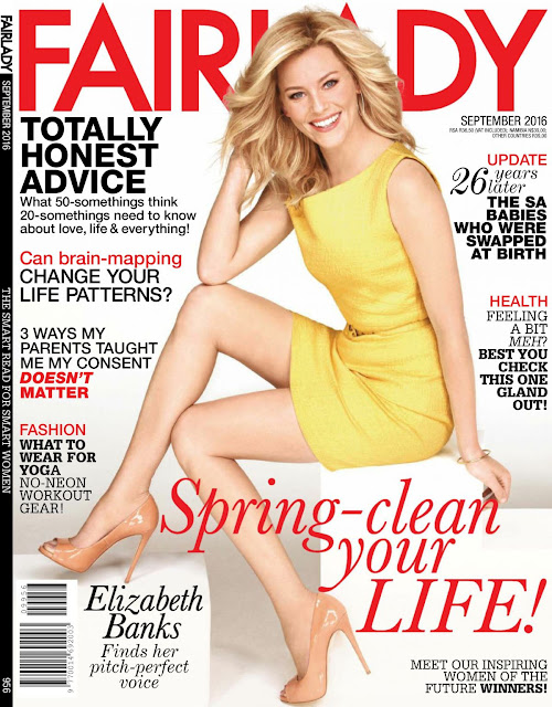 Actress, @  Elizabeth Banks - Fairlady Magazine September 2016