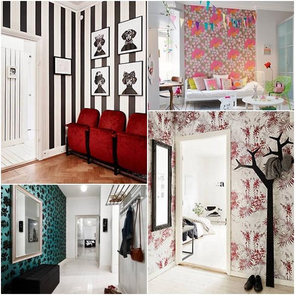 decoração de paredes com papel