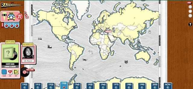 dünya radyo harita
