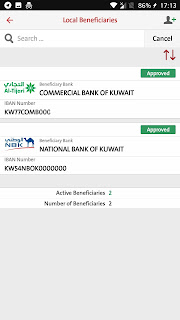 BB listing local bank beneficiary