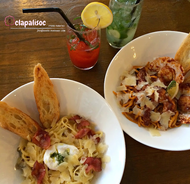 Pasta dishes from Single Origin Rockwell