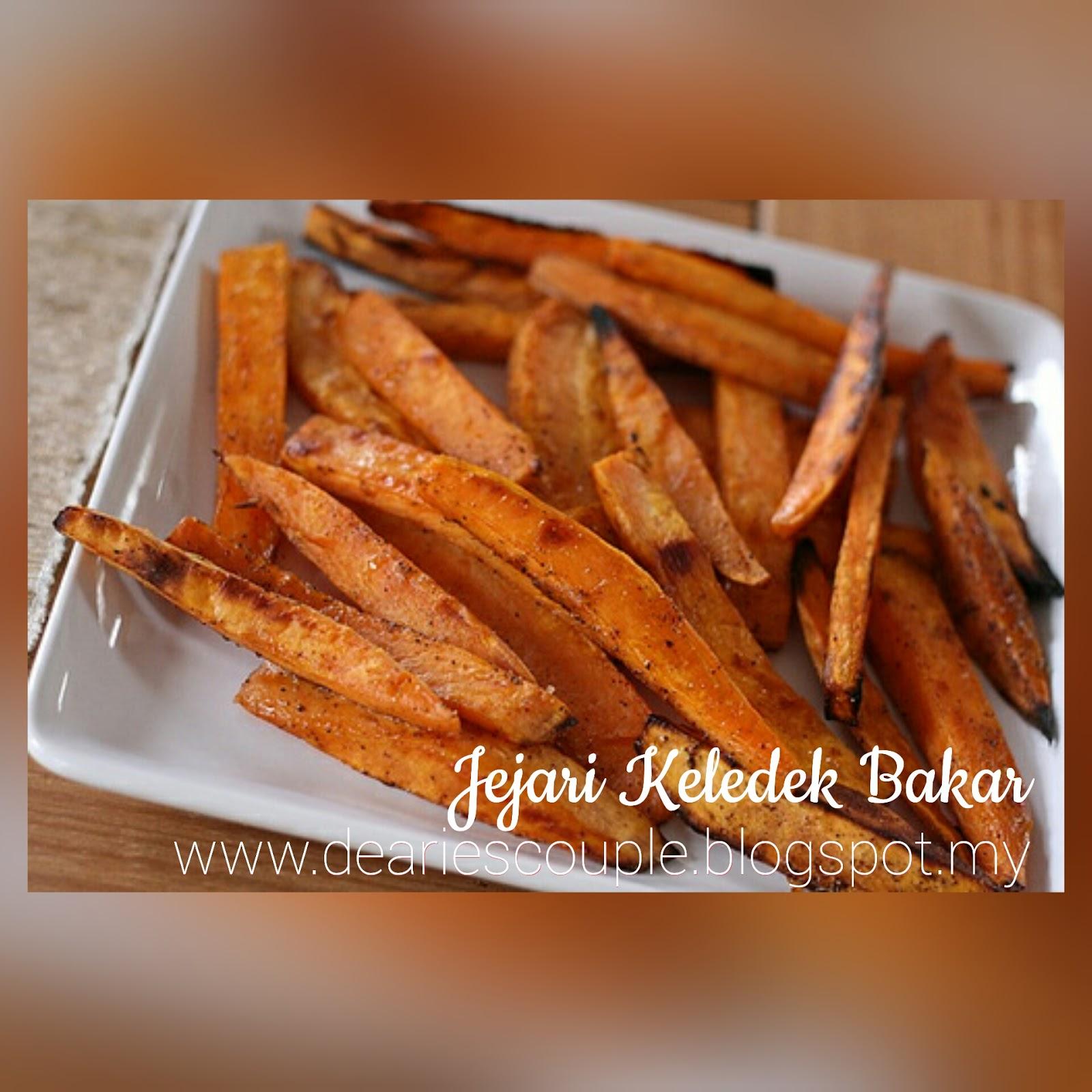 Resepi Jejari Ubi Keledek Bakar Baked Sweet Potato Fries
