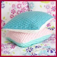 Cojines pastel a crochet