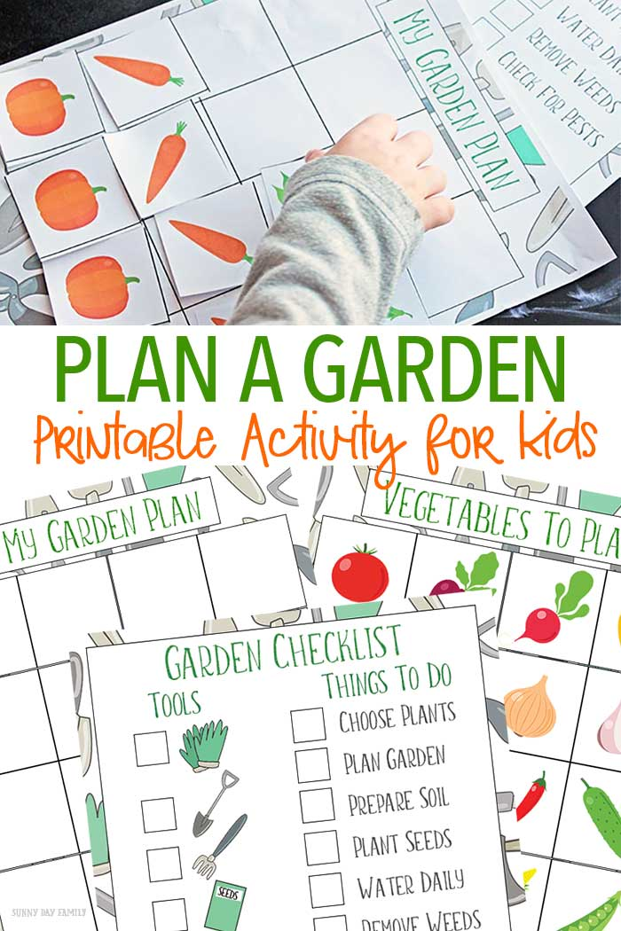 picture relating to Free Printable Garden Planner known as A Exciting Path for Youngsters toward Program a Back garden Absolutely free Printable Sunny