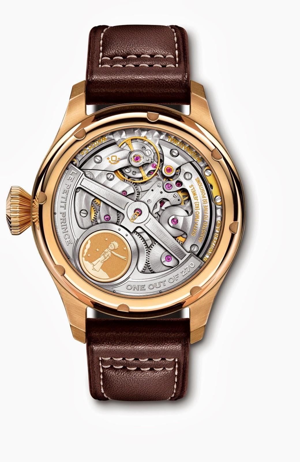 """5c5fd8af5 O Grande Relógio Aviador Calendário Perpétuo Edição """"Le Petit Prince"""" tem  calibre automático, da manufactura (51613), sistema Pellaton, rotor com  medalhão ..."""