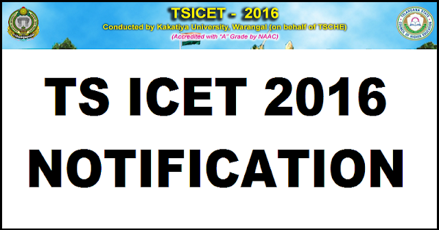 TS- ICET -2016 -Notification