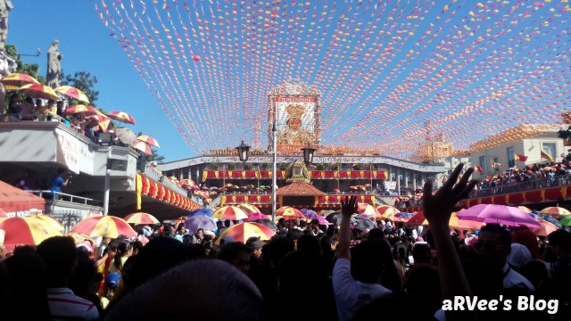 Sinulog Novena mass during Sinulog. The Novena Mass is being flocked by devotees from all around the world specifically devotees to Senor Santo Nino de Cebu