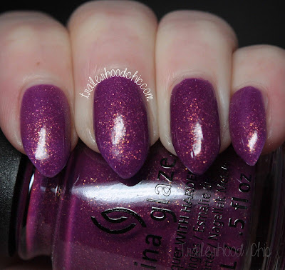 china glaze lite brites collection swatch we got the beet