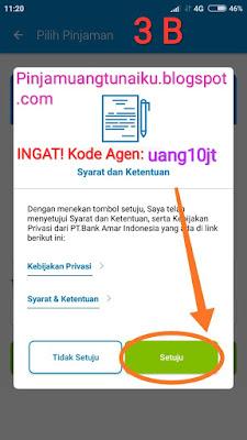 Sambungan Langkah ke tiga pinjaman uang di Aplikasi pinjaman Tunaiku kode agen uang10jt