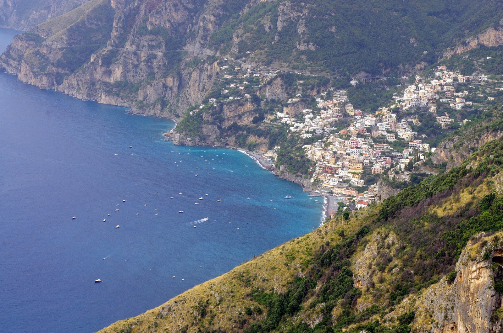 View of Positano from Walk of the Gods