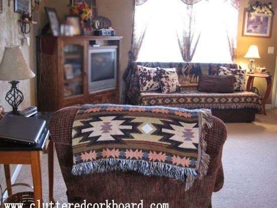 Western decor and Faux Cowhide Throw Pillows...