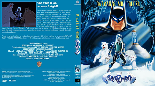 Batman & Mr. Freeze: Subzero Bluray Cover