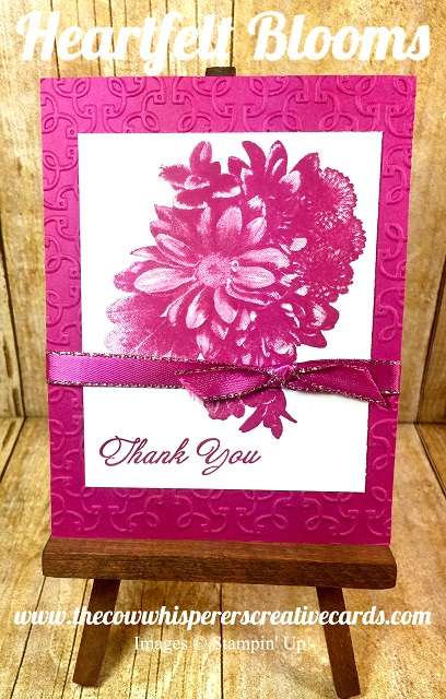 Card, Heartfelt Blooms, Berry Burst, Garden Trellis Embossing Folder