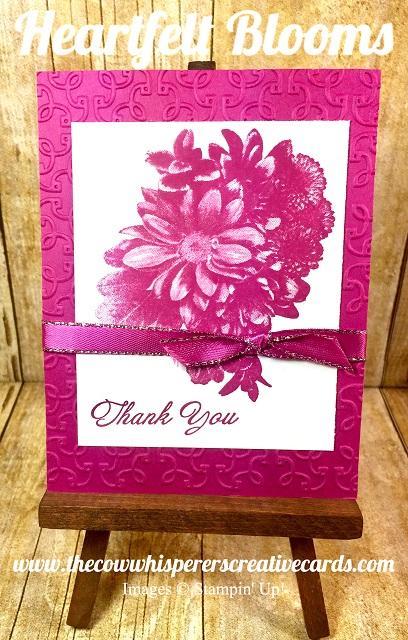 Card, Heartfelt Blooms, Berry Burst, Garden Trellis Embossing Folder